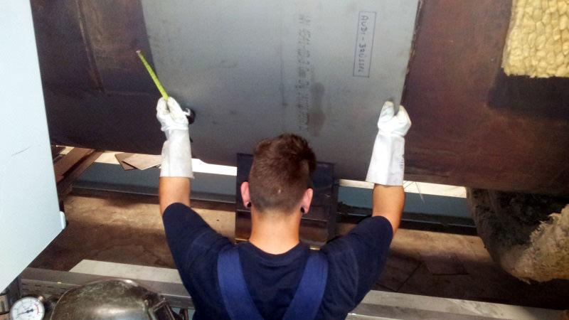 Reparaturen wie hier an einer TNV-Anlage führen wir frist- und fachgerecht aus.